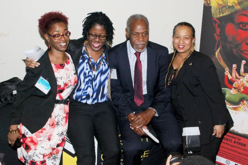 Maeshay k. Lewis, April R. Silver, Mr. Danny Glover, Julia Shaw at NBWC (2015)